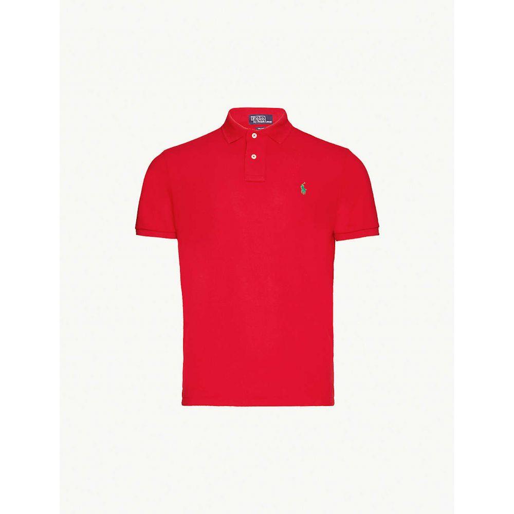 ラルフ ローレン POLO RALPH LAUREN メンズ ポロシャツ トップス【Logo-embroidered slim-fit pique polo shirt】Red