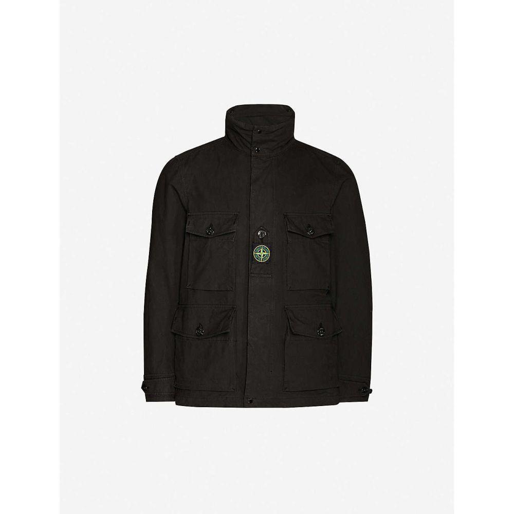 ストーンアイランド STONE ISLAND メンズ ジャケット アウター【Logo-patch woven jacket】BLACK