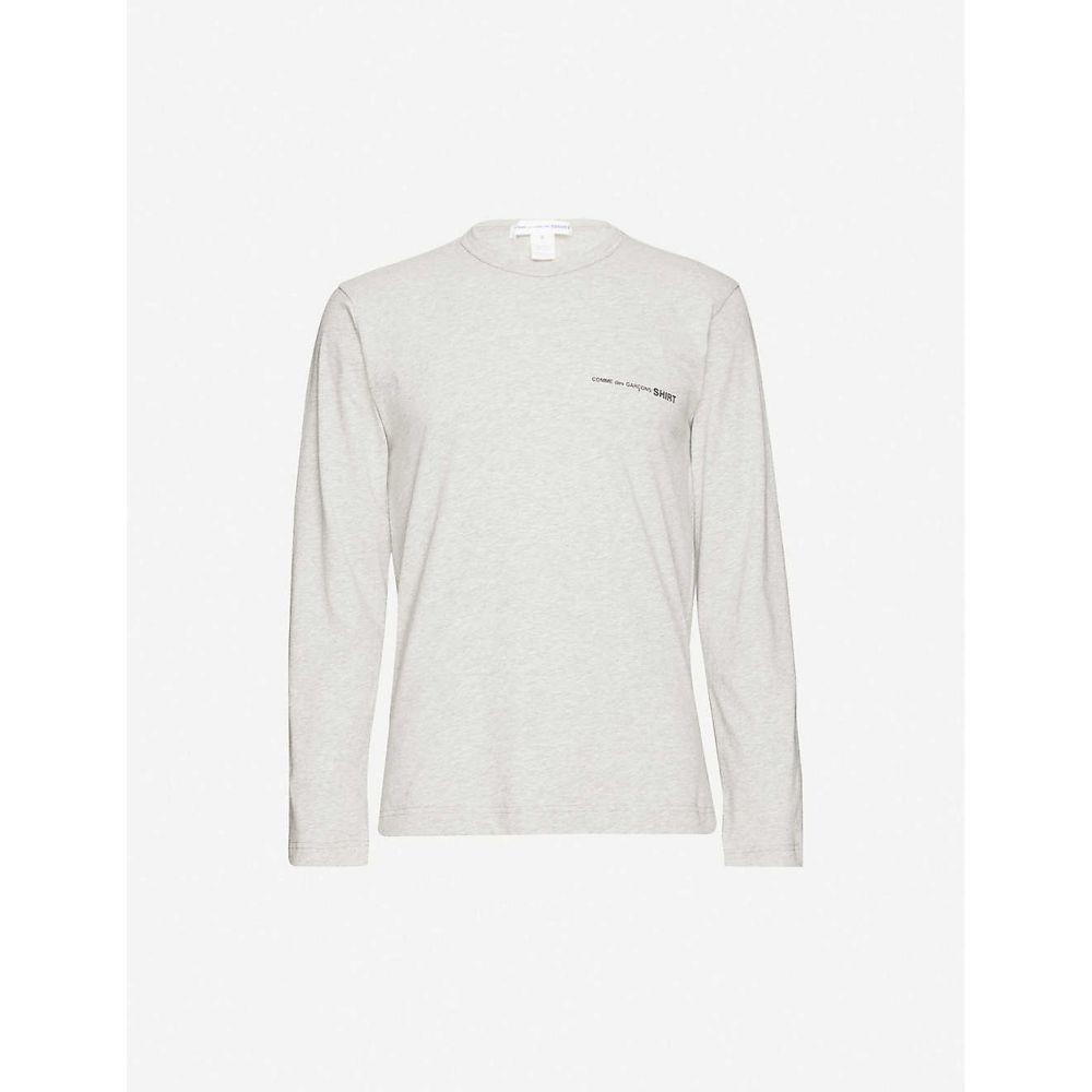 コム デ ギャルソン COMME DES GARCONS SHIRT メンズ 長袖Tシャツ トップス【Logo long-sleeve cotton T-shirt】Grey