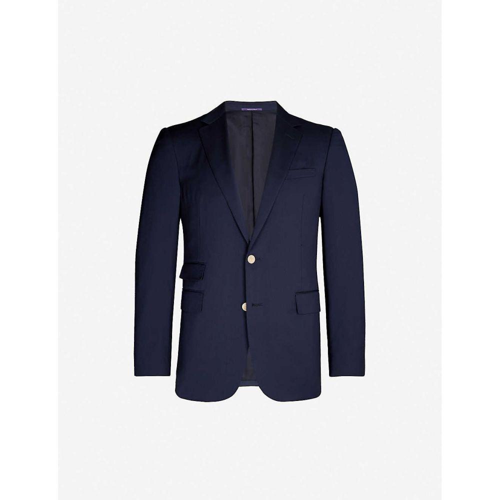 ラルフ ローレン RALPH LAUREN PURPLE LABEL メンズ スーツ・ジャケット アウター【Brand-embossed regular-fit wool blazer】Navy