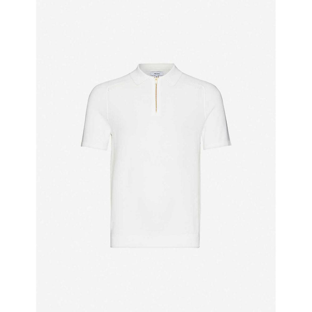 リース REISS メンズ ポロシャツ トップス【Airdale cotton-knitted polo shirt】WHITE