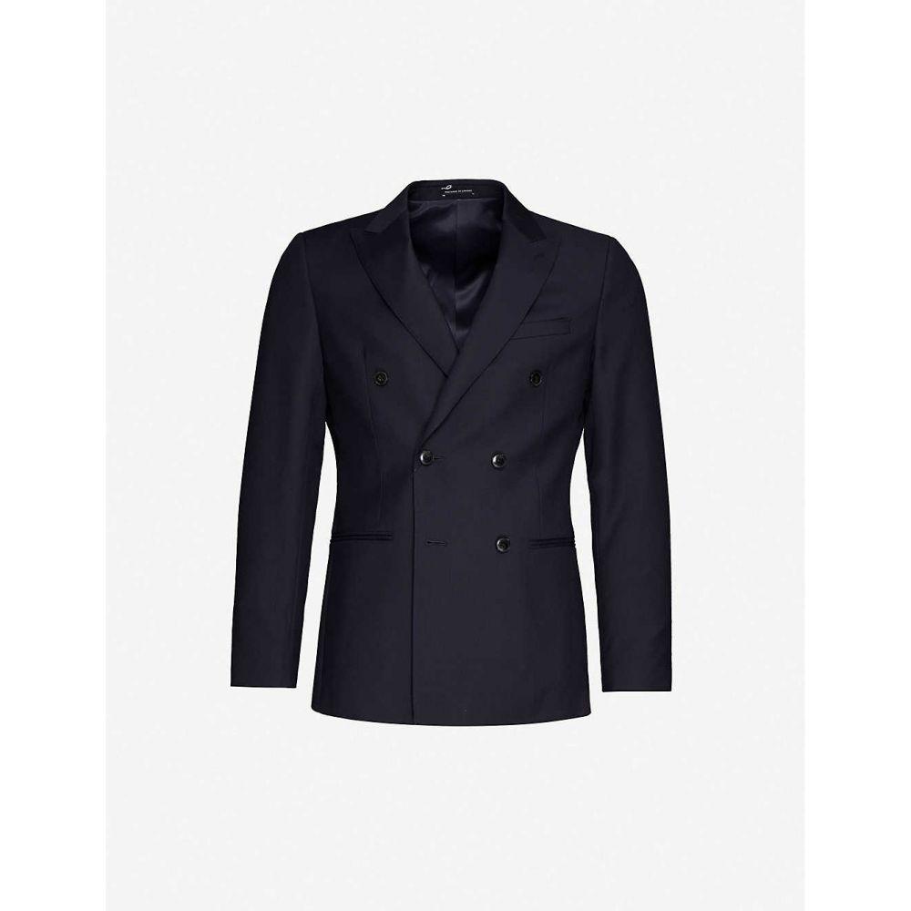 リース REISS メンズ スーツ・ジャケット アウター【Villa double-breasted wool blazer】NAVY