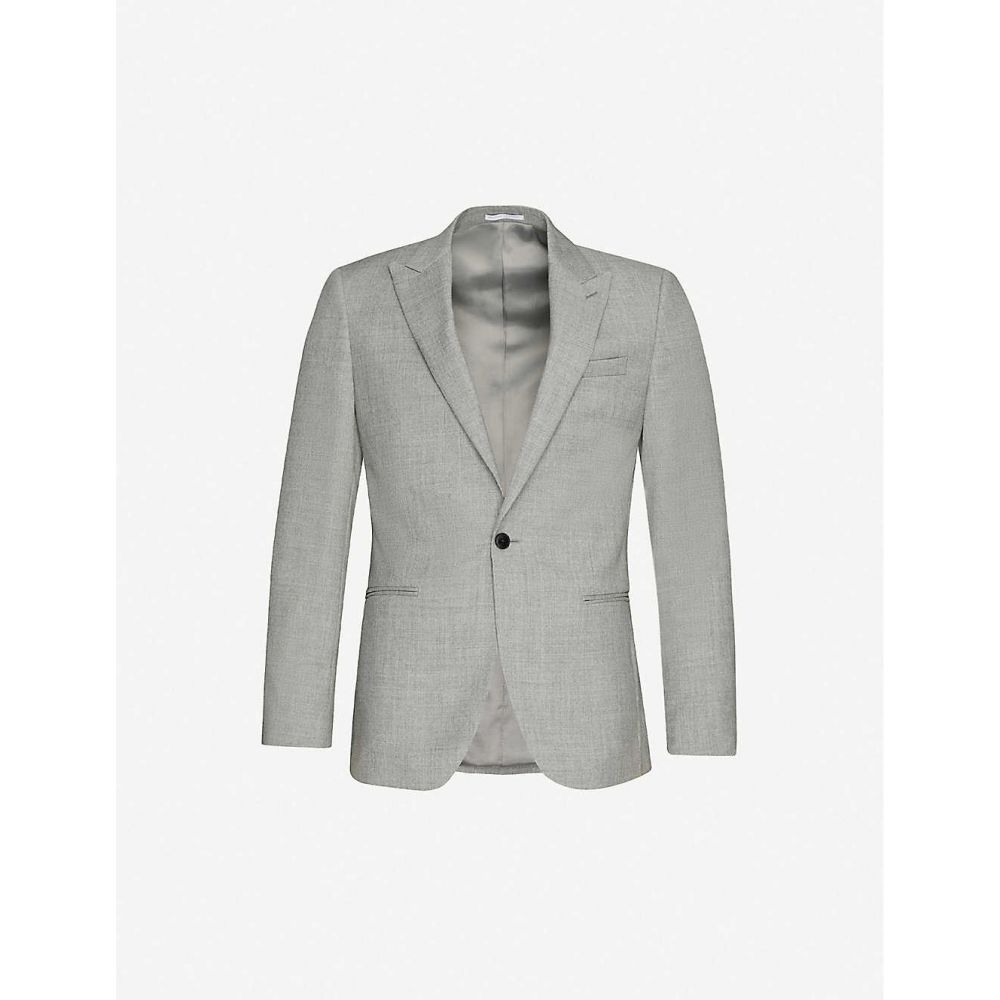 リース REISS メンズ スーツ・ジャケット アウター【Trullo single-breasted slim-fit wool blazer】SOFT GREY