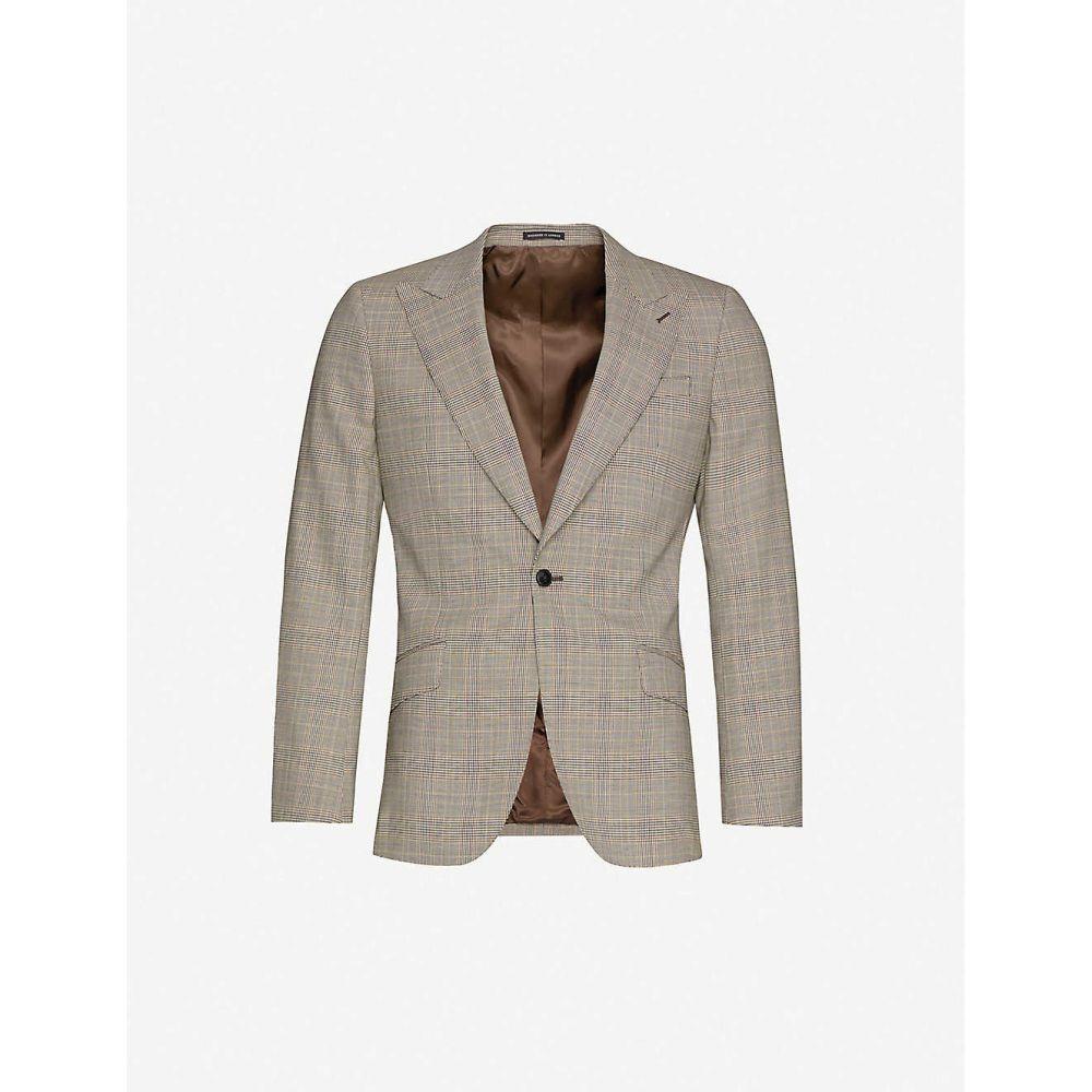 リース REISS メンズ スーツ・ジャケット アウター【Oscar slim-fit wool-blend blazer】GREY