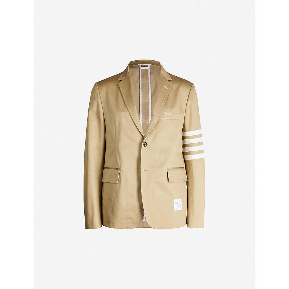 トム ブラウン THOM BROWNE メンズ スーツ・ジャケット アウター【Single-breasted slim-fit cotton-twill blazer】CAMEL