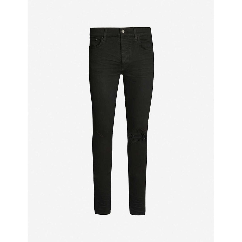 アミリ AMIRI メンズ ジーンズ・デニム リップドジーンズ ボトムス・パンツ【Ripped skinny stretch-denim jeans】BLACK