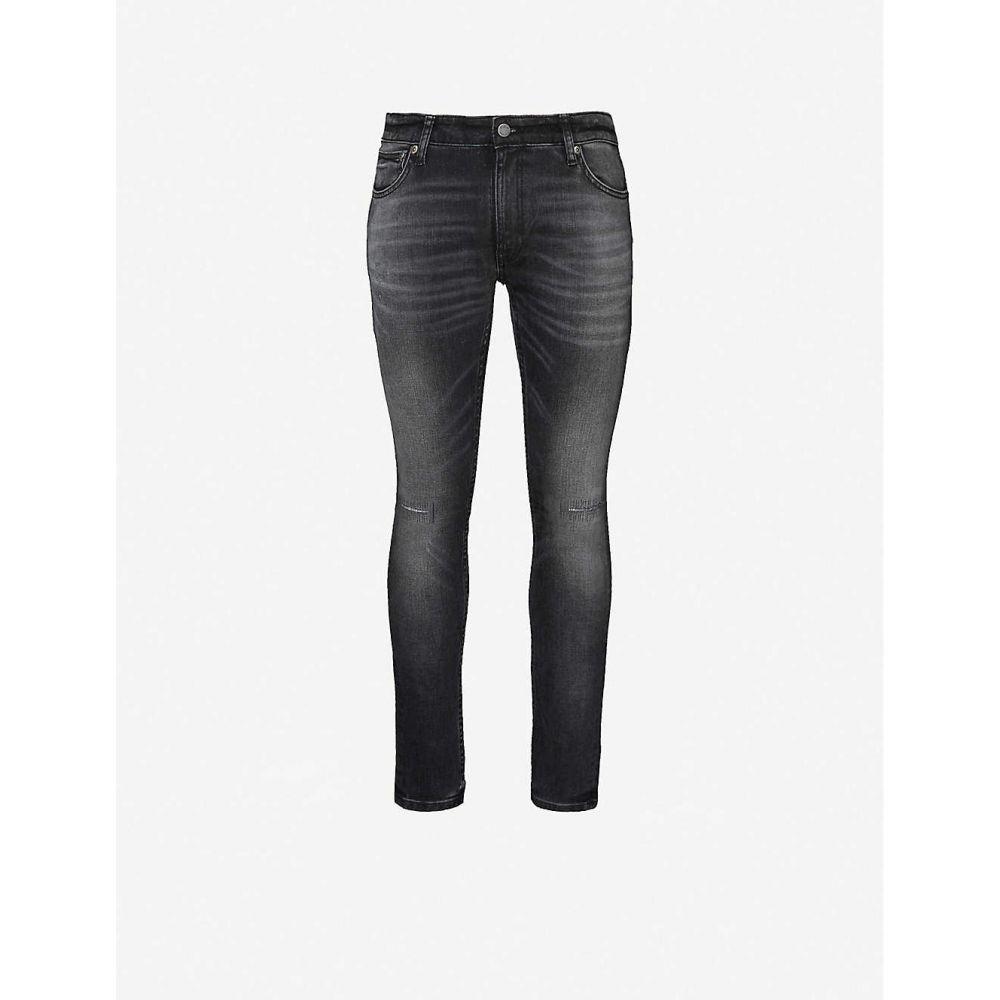 ヌーディージーンズ NUDIE JEANS メンズ ジーンズ・デニム ボトムス・パンツ【Skinny Lin faded straight jeans】Favorite Black
