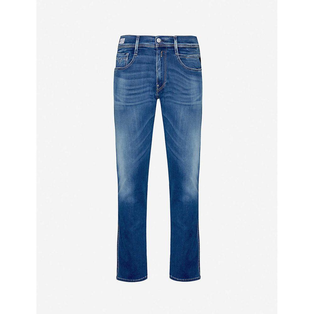 リプレイ REPLAY メンズ ジーンズ・デニム ボトムス・パンツ【Anbass slim jeans cotton-blend denim jeans】Medium Blue