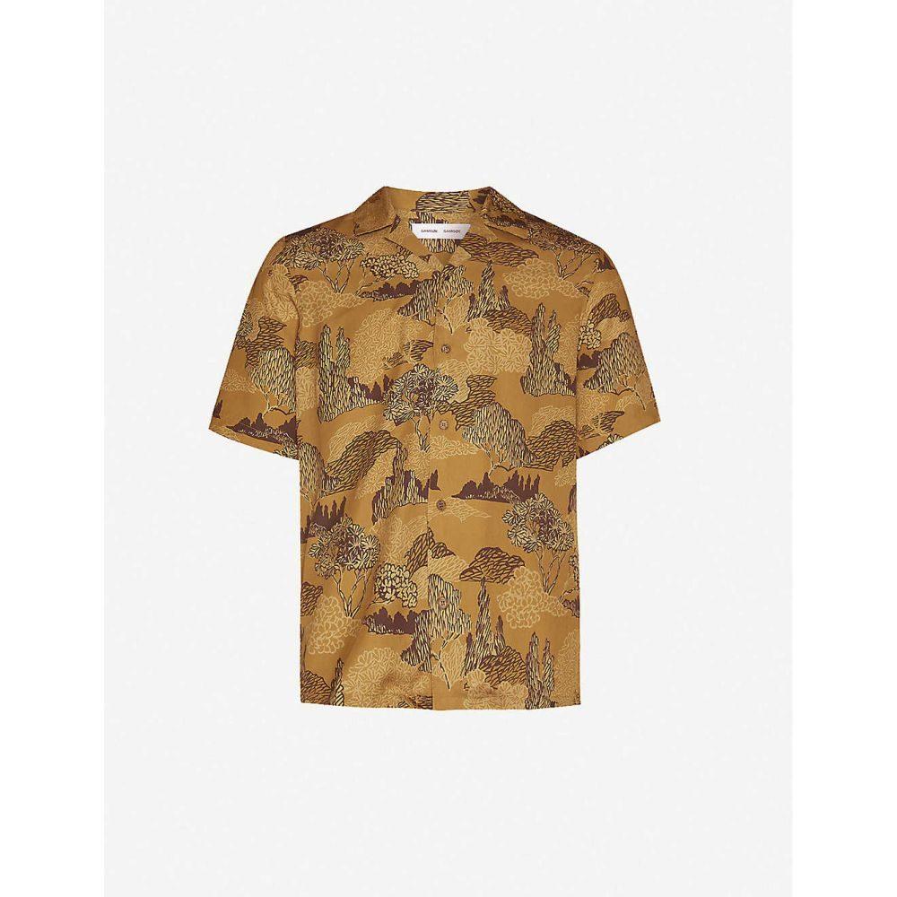 サムソエ&サムソエ SAMSOE & SAMSOE メンズ シャツ トップス【Oscar graphic-print slim-fit stretch-jersey shirt】The Poet