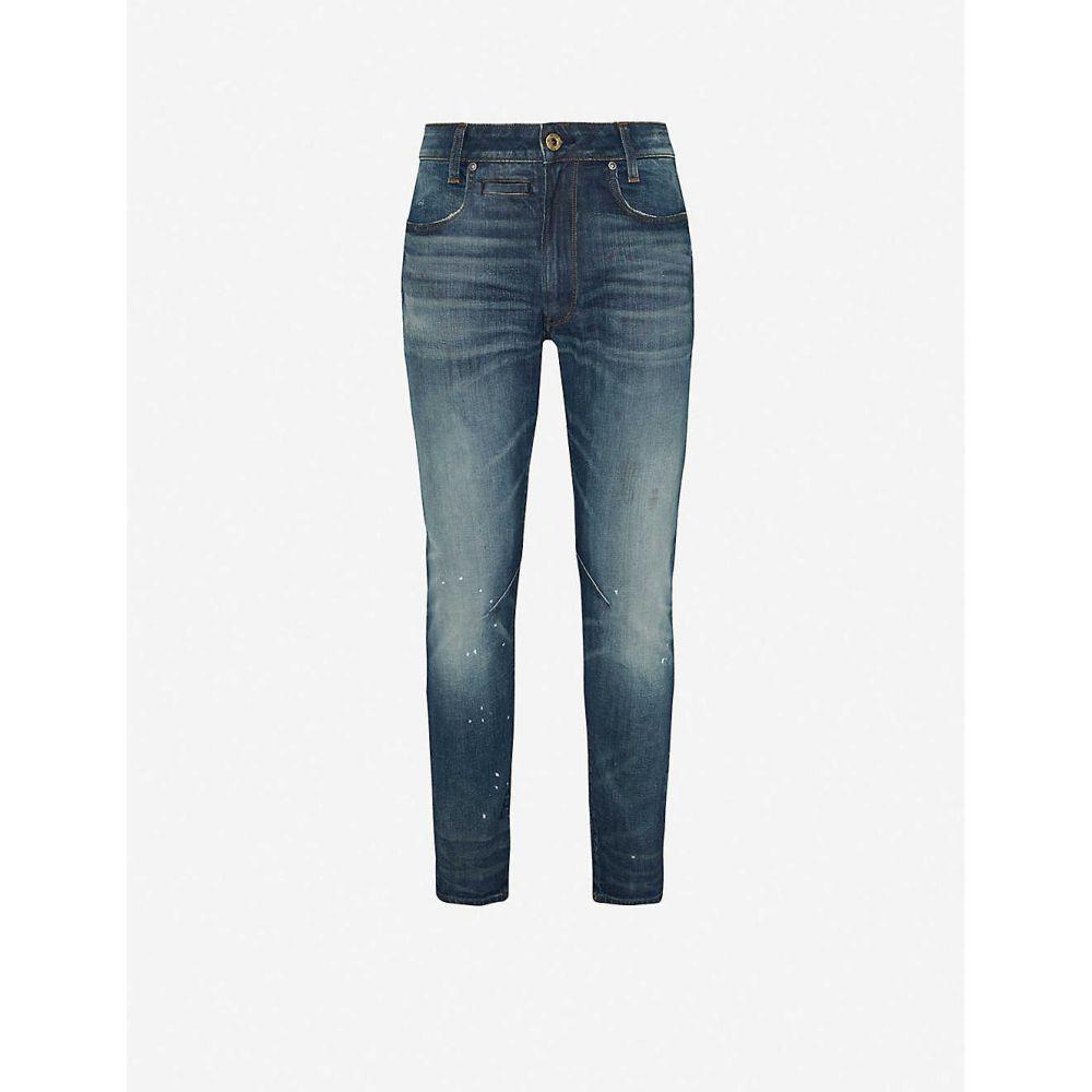 ジースター ロゥ G-STAR メンズ ジーンズ・デニム ボトムス・パンツ【D-staq 3D paint-splattered tapered jeans】Antic Faded Lagoon