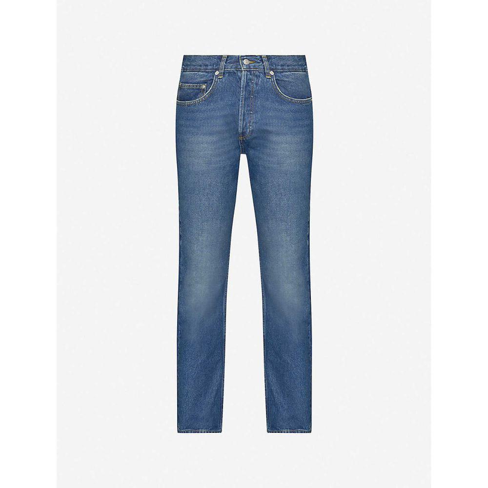 サンドロ SANDRO メンズ ジーンズ・デニム ボトムス・パンツ【Faded straight-fit jeans】BLUE VINTAGE DENIM