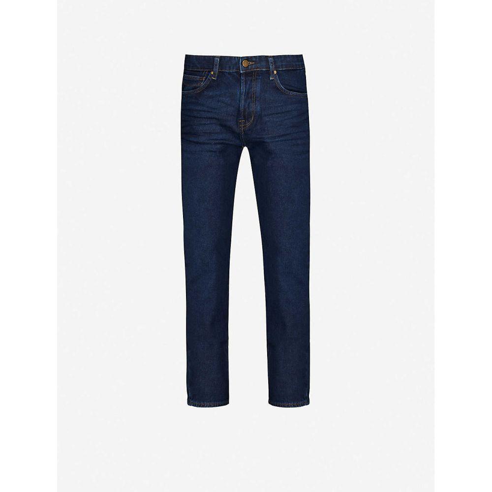 テッドベーカー TED BAKER メンズ ジーンズ・デニム ボトムス・パンツ【High-rise slim-fit stretch-denim jeans】BLUE