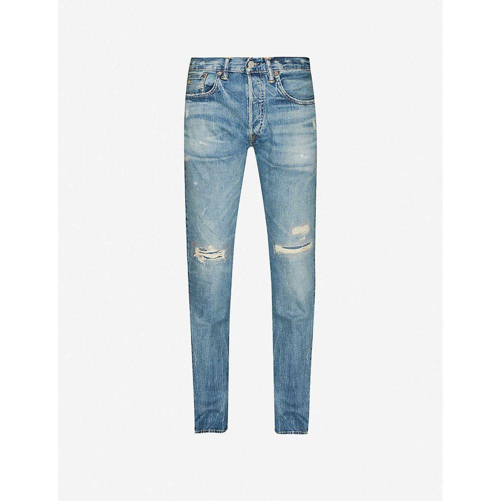 ダブルアールエル RRL メンズ ジーンズ・デニム ボトムス・パンツ【Distressed straight jeans】BLUE