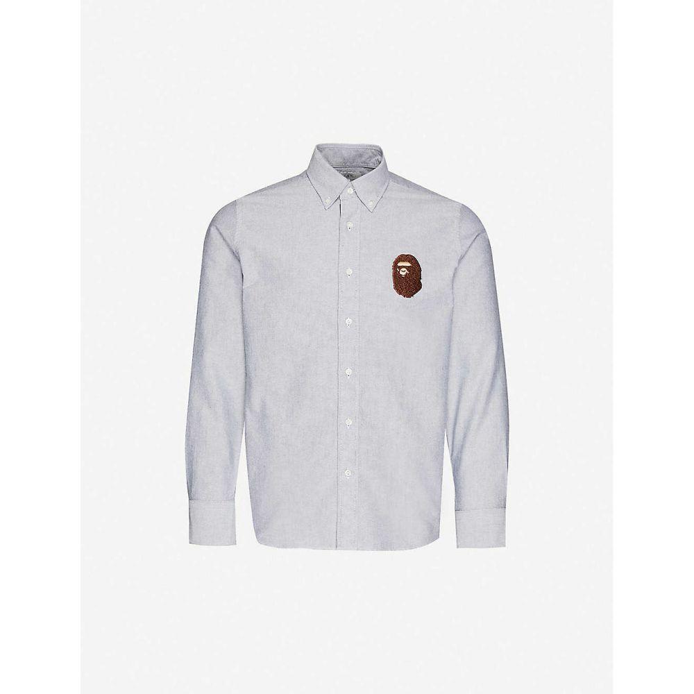 ア ベイシング エイプ A BATHING APE メンズ シャツ トップス【Ape-head regular-fit Oxford cotton shirt】GRAY