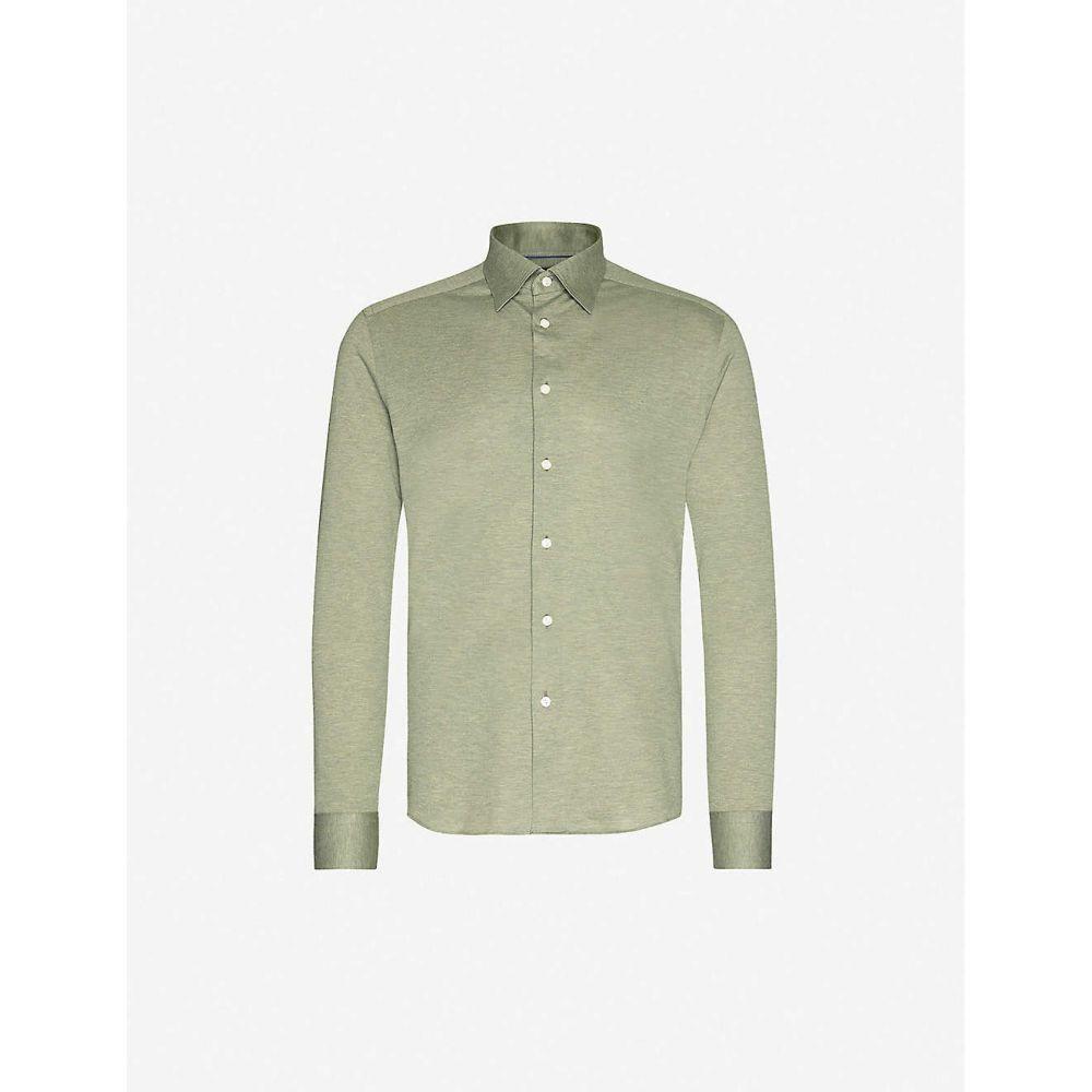 イートン ETON メンズ シャツ トップス【Regular-fit cotton-pique shirt】Green