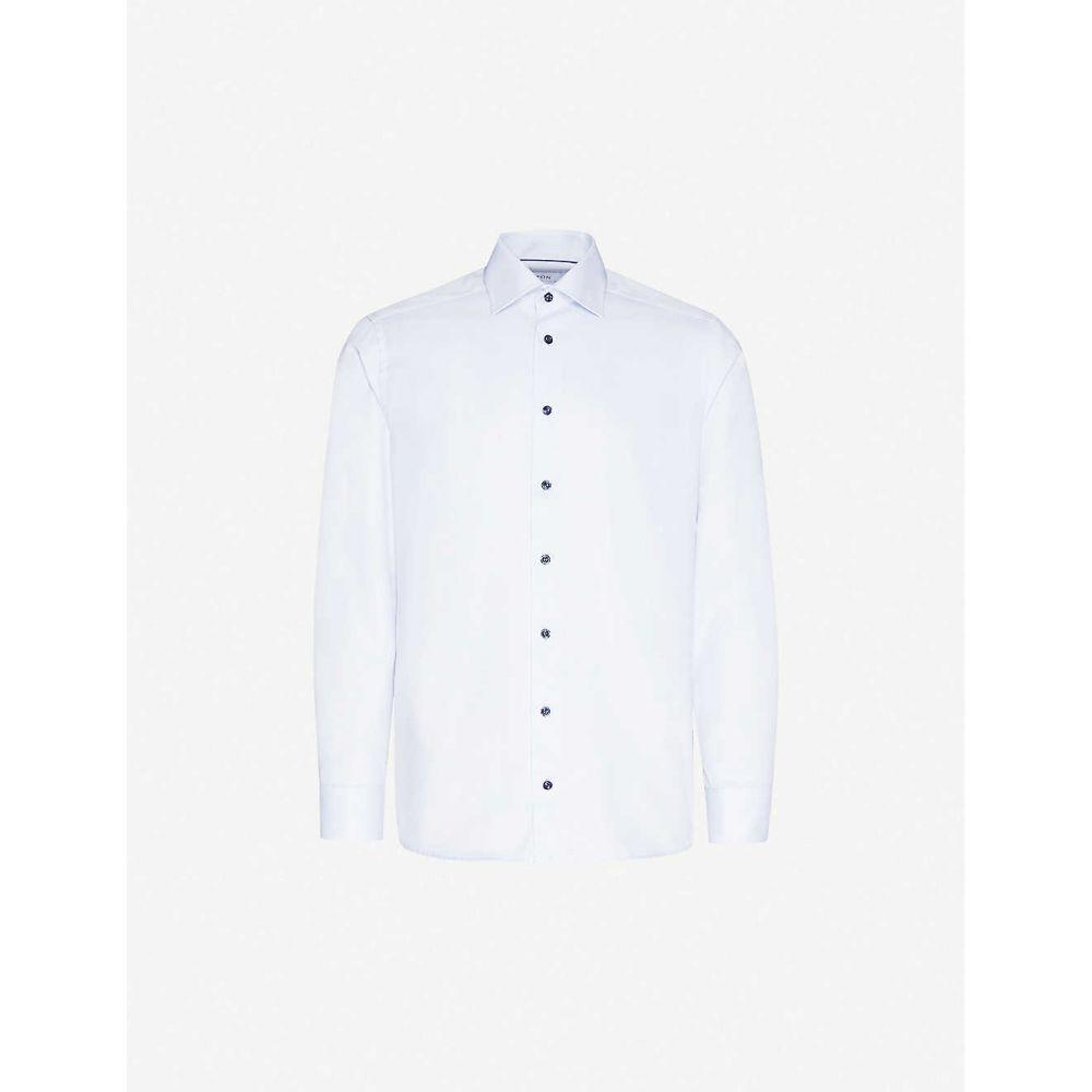 イートン ETON メンズ シャツ トップス【Slim-fit cotton shirt】Blue