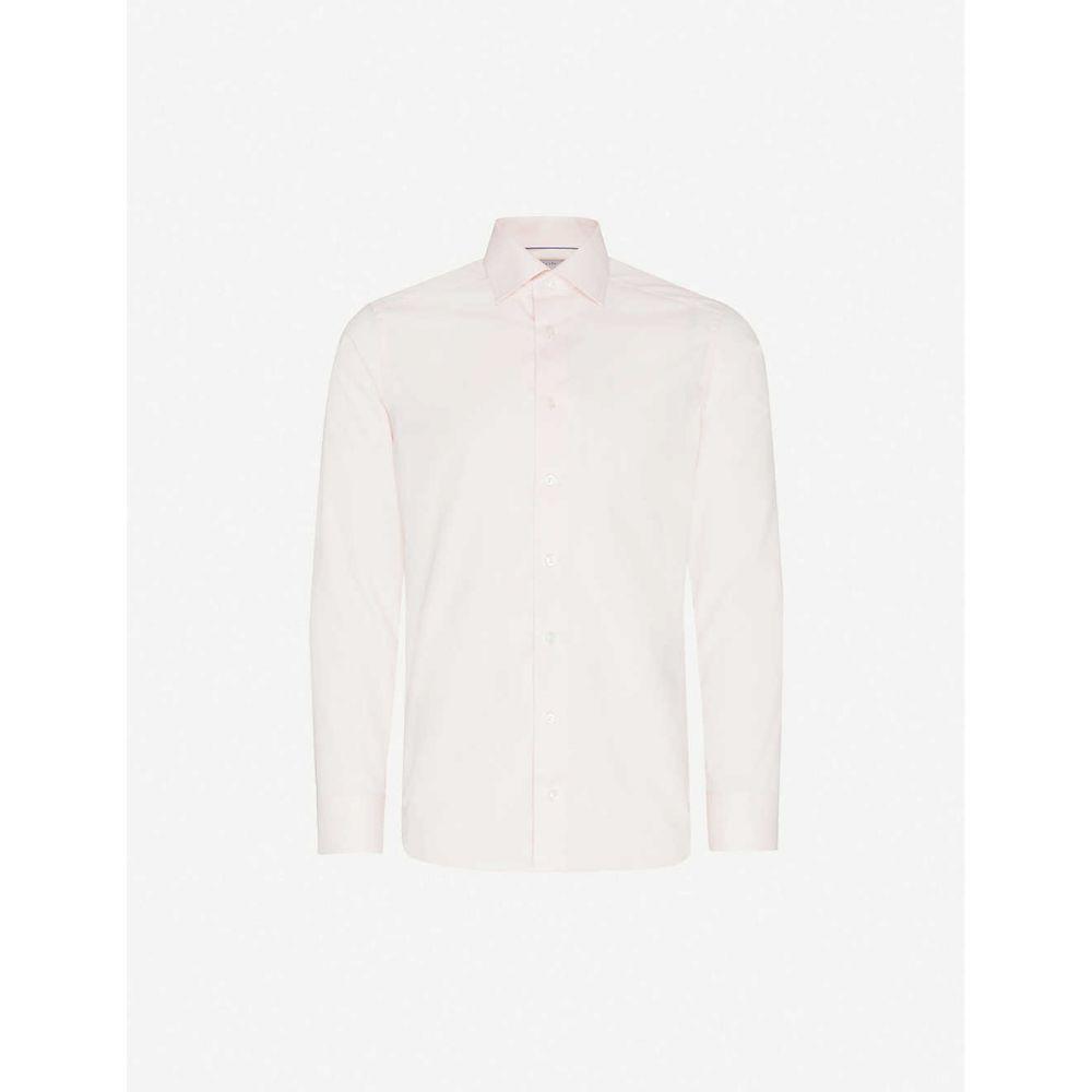 イートン ETON メンズ シャツ トップス【Slim-fit cotton shirt】Pink/Red