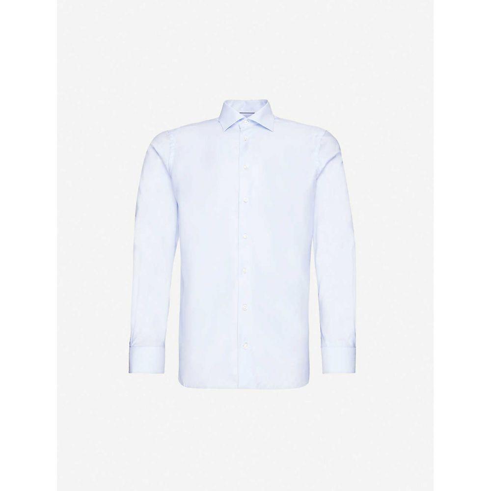 イートン ETON メンズ シャツ トップス【Contemporary-fit cotton-twill shirt】Blue