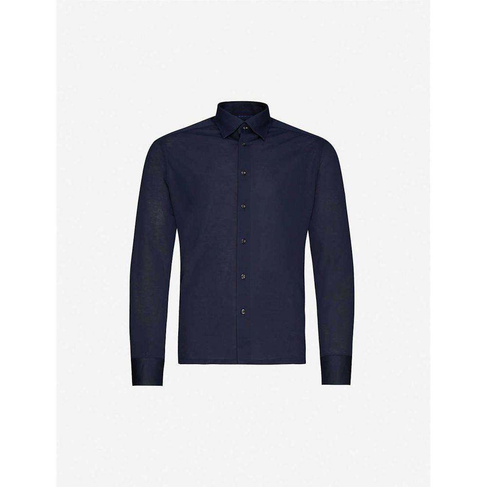 イートン ETON メンズ ポロシャツ トップス【Slim-fit cotton-pique polo top】Blue