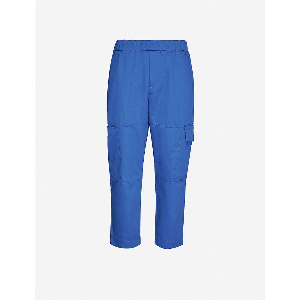 ケンゾー KENZO メンズ カーゴパンツ ボトムス・パンツ【Tapered cotton-jersey cargo trousers】NAVY