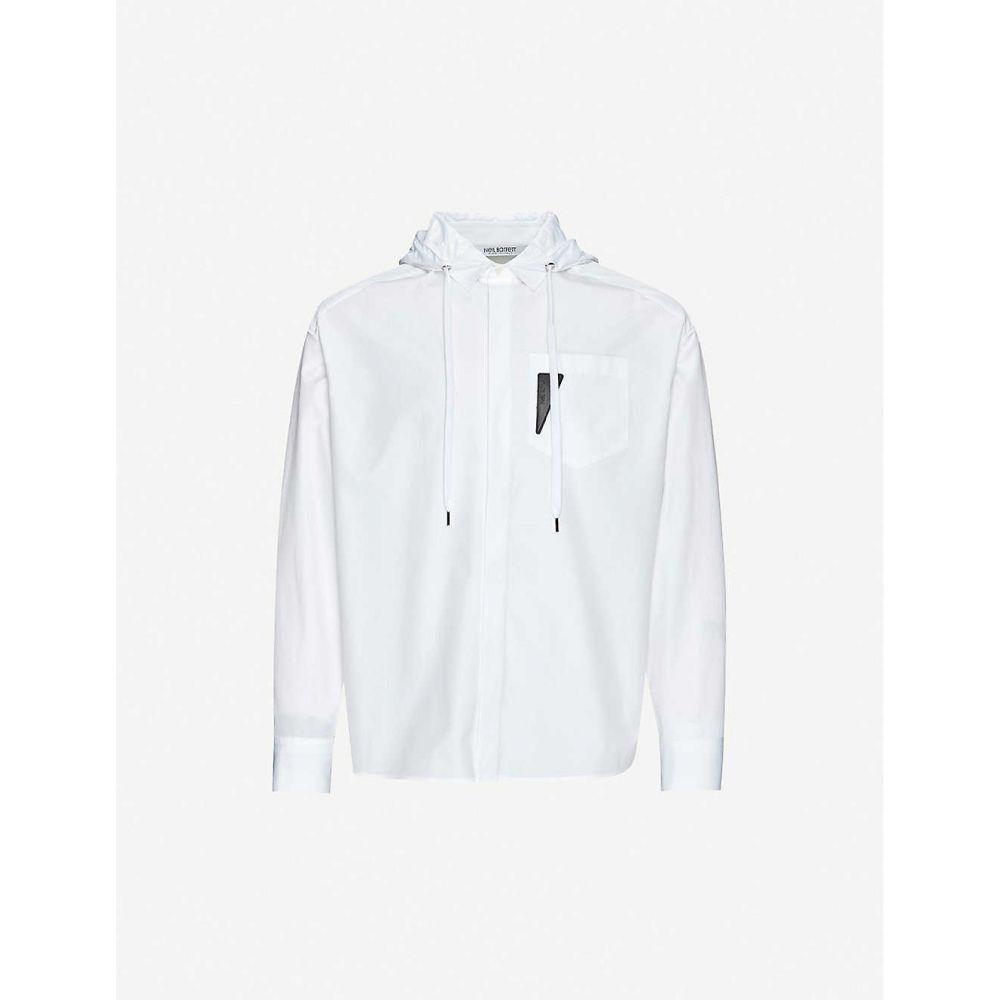 ニール バレット NEIL BARRETT メンズ シャツ トップス【Hooded oversized cotton shirt】White