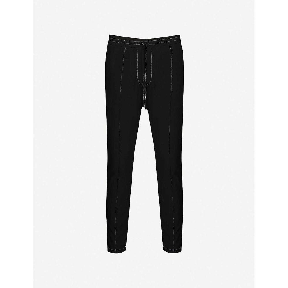 プレヴ PREVU メンズ ボトムス・パンツ 【Grado Topstitch tapered crepe trousers】BLACK