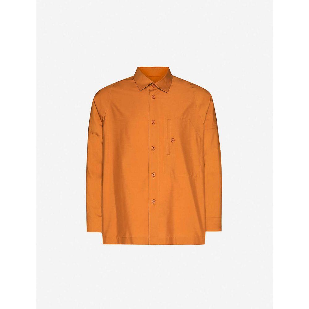 イッセイ ミヤケ HOMME PLISSE ISSEY MIYAKE メンズ シャツ トップス【Relaxed-fit woven shirt】Terracotta