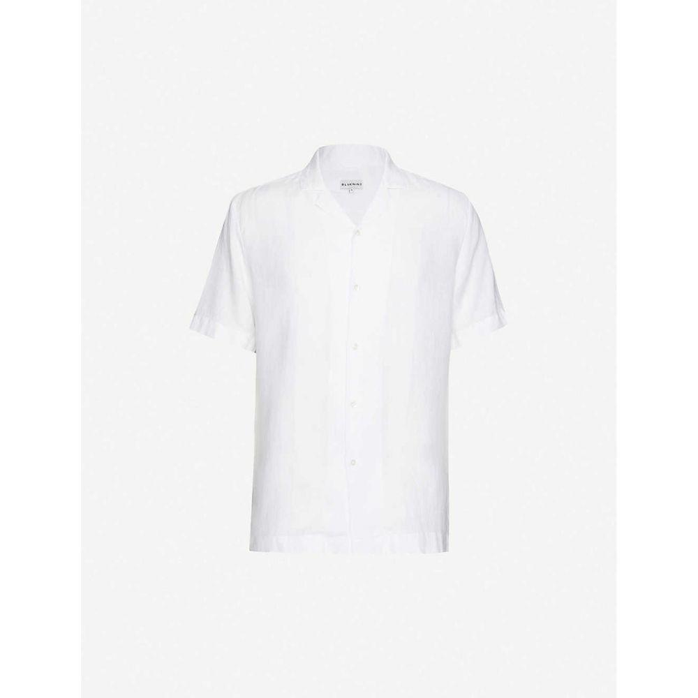ブルーミント BLUEMINT メンズ シャツ トップス【Mars notched-collar linen shirt】White