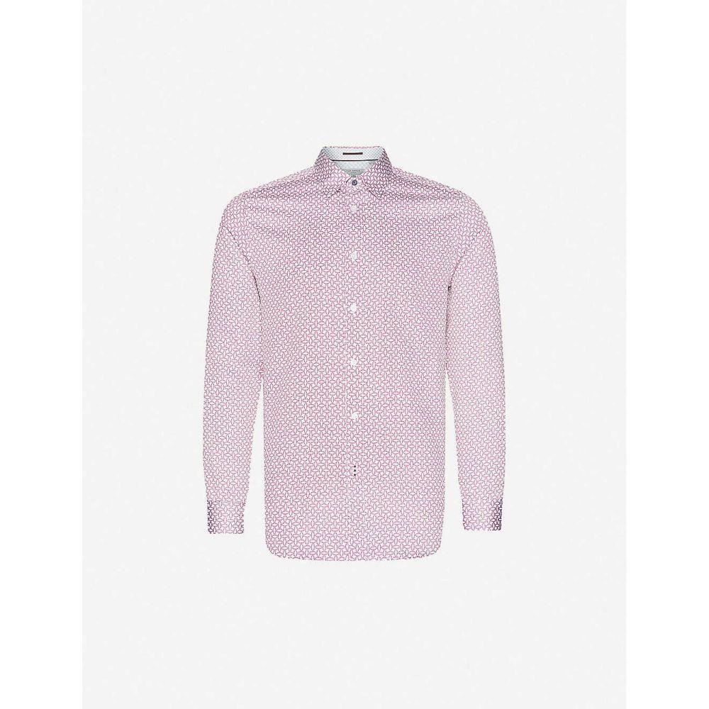 テッドベーカー TED BAKER メンズ シャツ トップス【Graphic-print regular-fit cotton shirt】RED