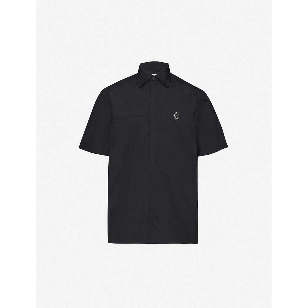 アコールドウォール A-COLD-WALL メンズ 半袖シャツ トップス【Brand-plaque relaxed-fit shell shirt】BLACK