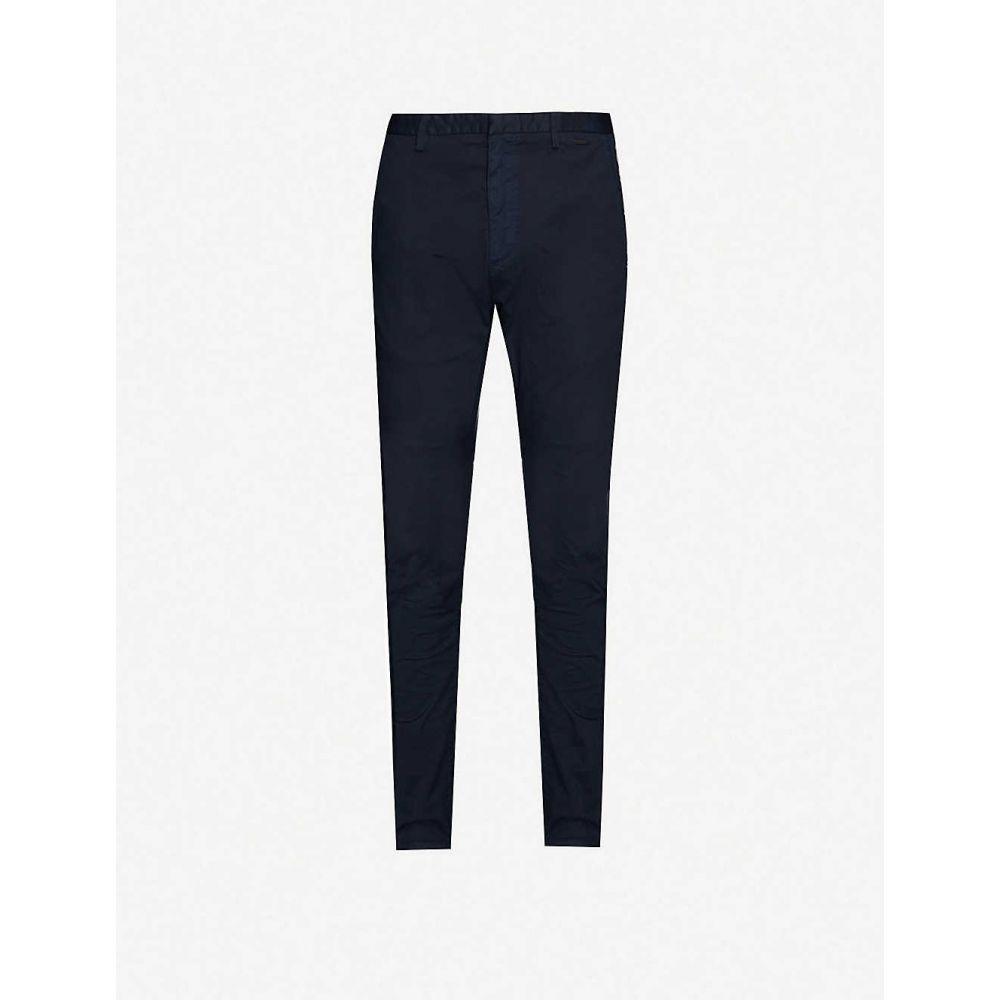 ヒューゴ ボス HUGO メンズ スキニー・スリム ボトムス・パンツ【Slim-fit stretch-cotton trousers】Dark Blue
