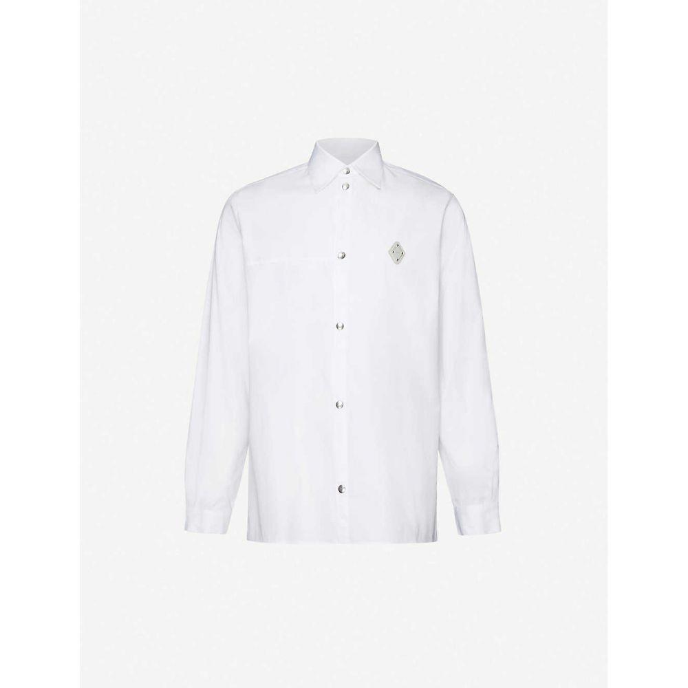アコールドウォール A-COLD-WALL メンズ シャツ トップス【Rhombus logo-badge cotton-poplin shirt】White