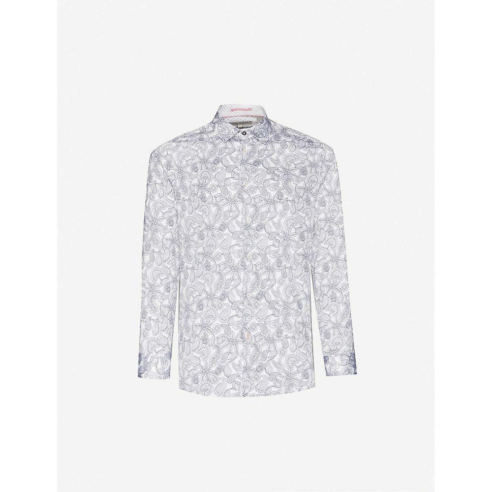 テッドベーカー TED BAKER メンズ シャツ トップス【Paisley-print regular-fit cotton shirt】WHITE
