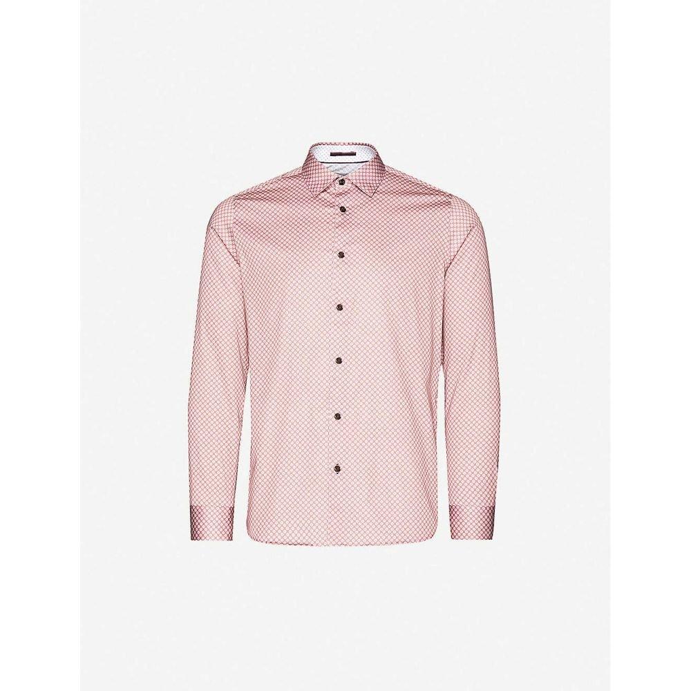 テッドベーカー TED BAKER メンズ シャツ トップス【Graphic-print regular-fit stretch-cotton shirt】PINK