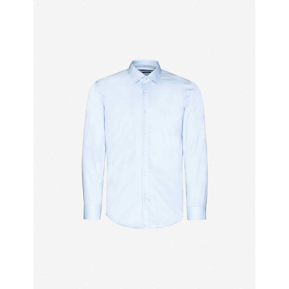 ヒューゴ ボス BOSS メンズ シャツ トップス【Slim-fit cotton shirt】Light/Pastel Blue