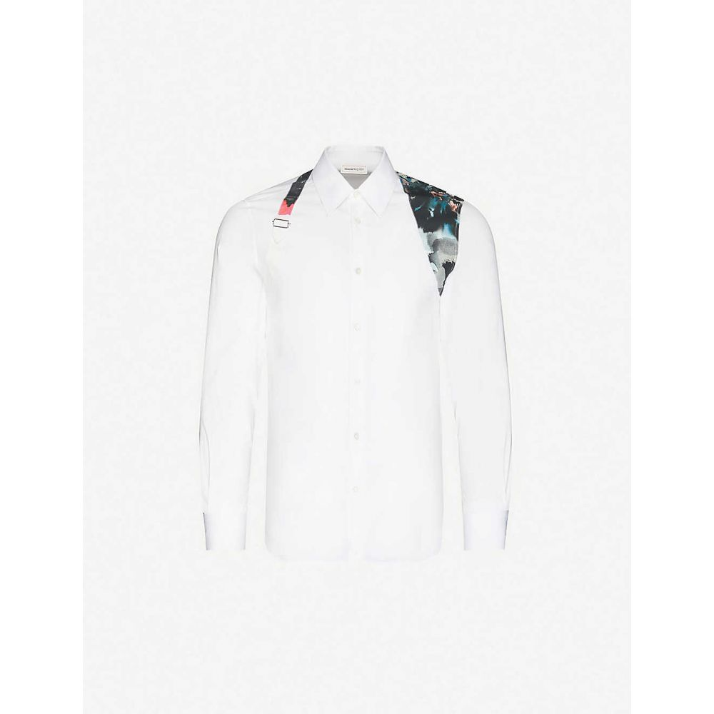 アレキサンダー マックイーン ALEXANDER MCQUEEN メンズ シャツ トップス【Harness-embellished regular-fit stretch-cotton shirt】White