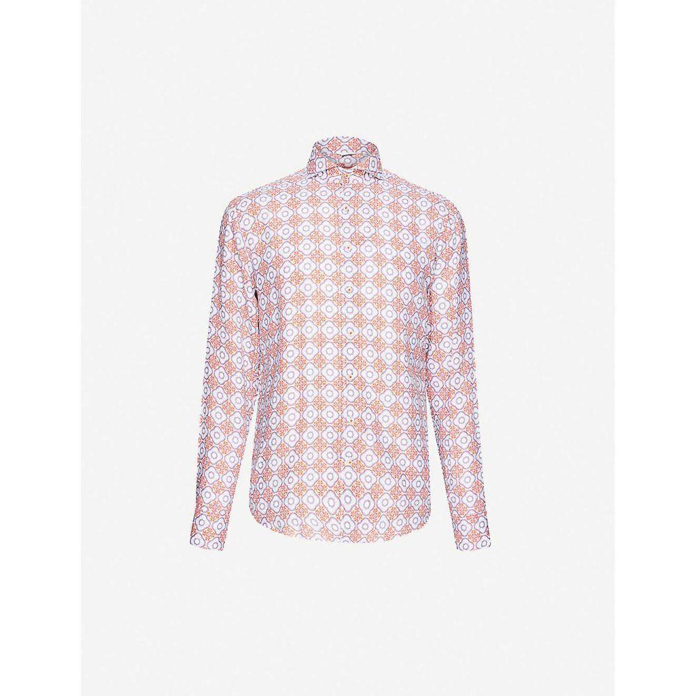 ステンストローム STENSTROMS メンズ シャツ トップス【Floral-print regular-fit linen shirt】Multi