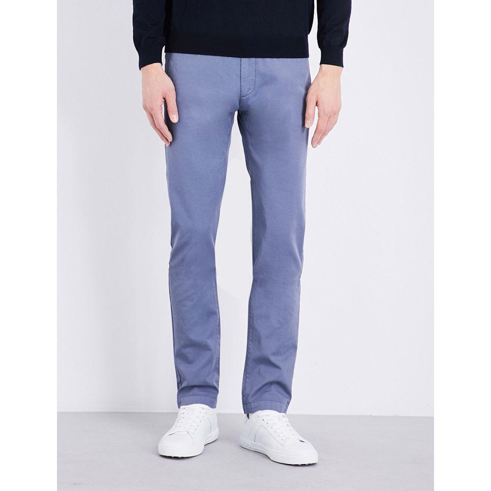 ヒューゴ ボス BOSS メンズ チノパン ボトムス・パンツ【Tapered stretch-cotton chinos】Open Blue