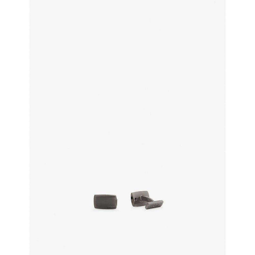 ヒューゴ ボス HUGO メンズ カフス・カフリンクス 【Brass cufflinks】Dark Grey