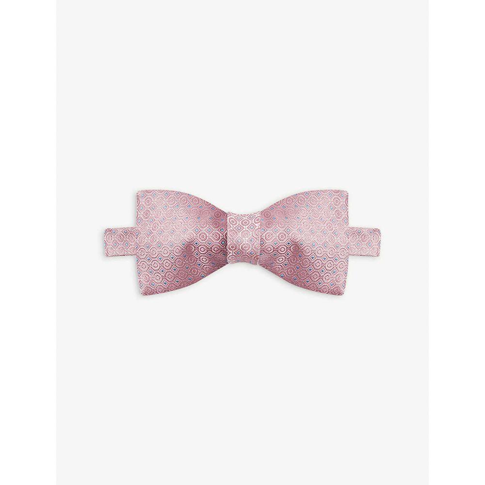 イートン ETON メンズ 蝶ネクタイ 【Geometric print silk bow tie】Pink/Red