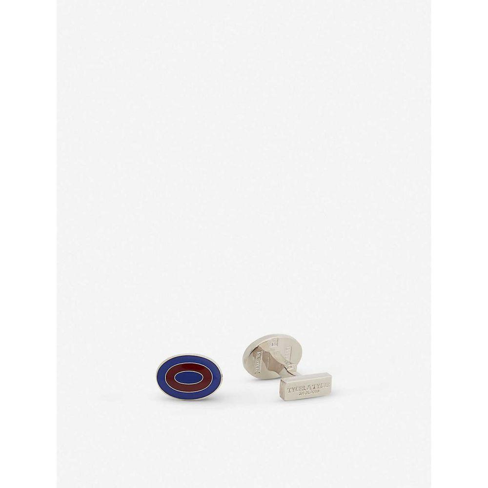 タイラーアンドタイラー TYLER & TYLER メンズ カフス・カフリンクス 【Capsule bold ripple cufflinks】BLUE/BURGUNDY