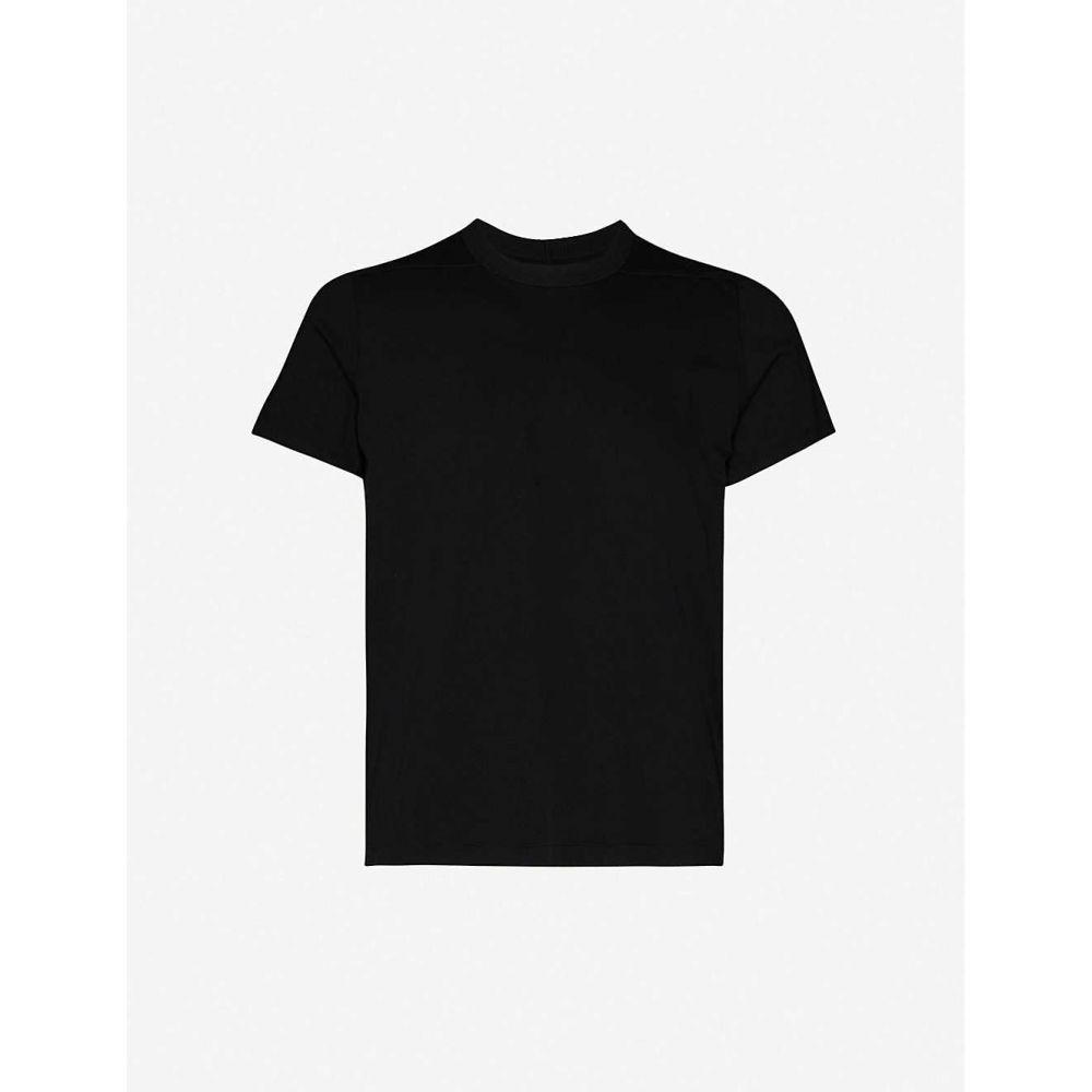 リック オウエンス RICK OWENS メンズ Tシャツ トップス【Level crewneck cotton-jersey T-shirt】BLACK