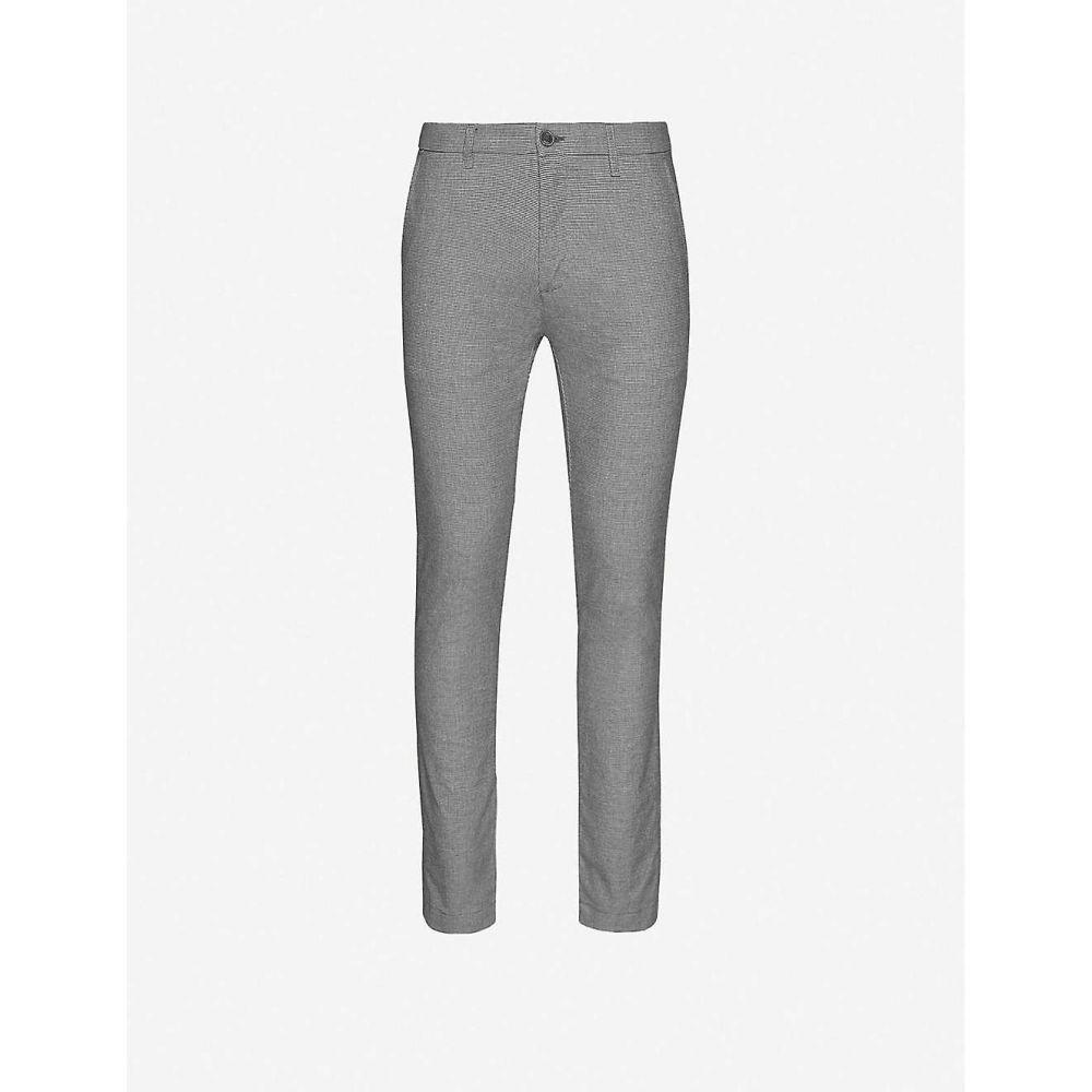 テッドベーカー TED BAKER メンズ スキニー・スリム ボトムス・パンツ【Slim-fit straight-leg trousers】GREY