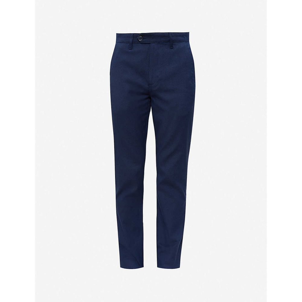 テッドベーカー TED BAKER メンズ ボトムス・パンツ 【Textured straight-leg trousers】BLUE