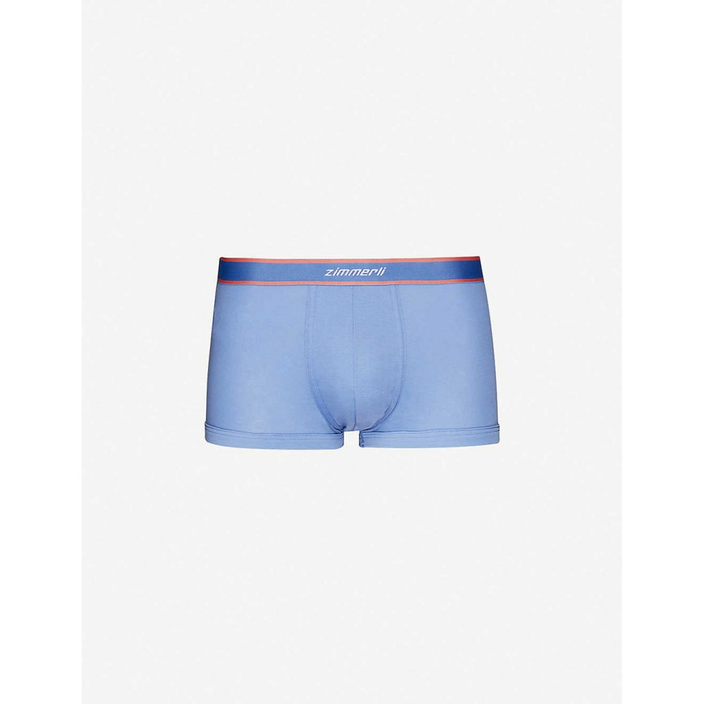 ヅィメリー ZIMMERLI メンズ ボクサーパンツ インナー・下着【Regular-fit stretch-cotton trunks】Fiji Blue