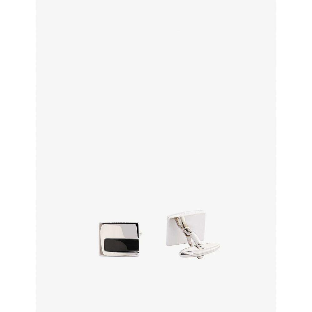 ランバン LANVIN メンズ カフス・カフリンクス 【Onyx inlay square cufflinks】Silver