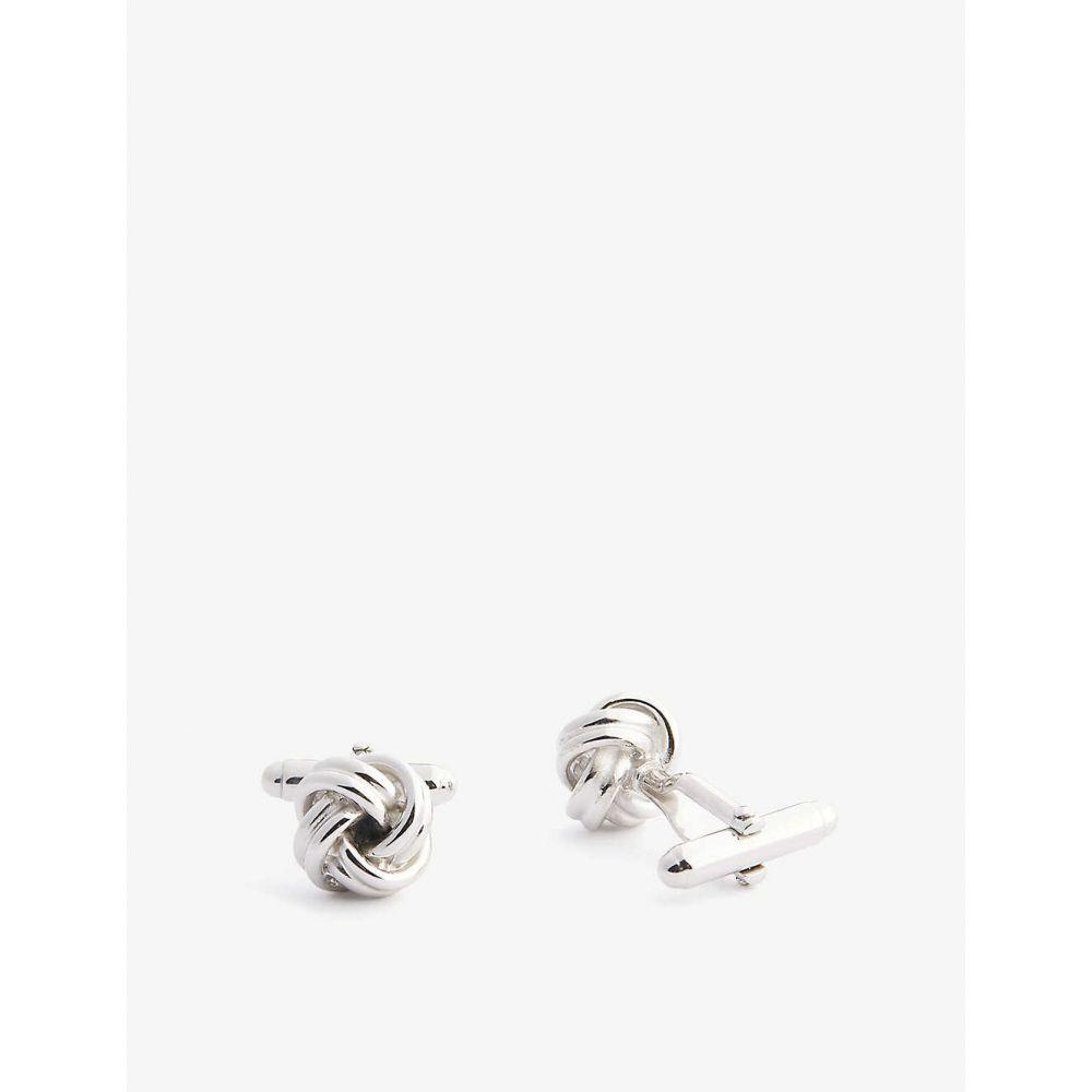 ランバン LANVIN メンズ カフス・カフリンクス 【Knotted cufflinks】Silver