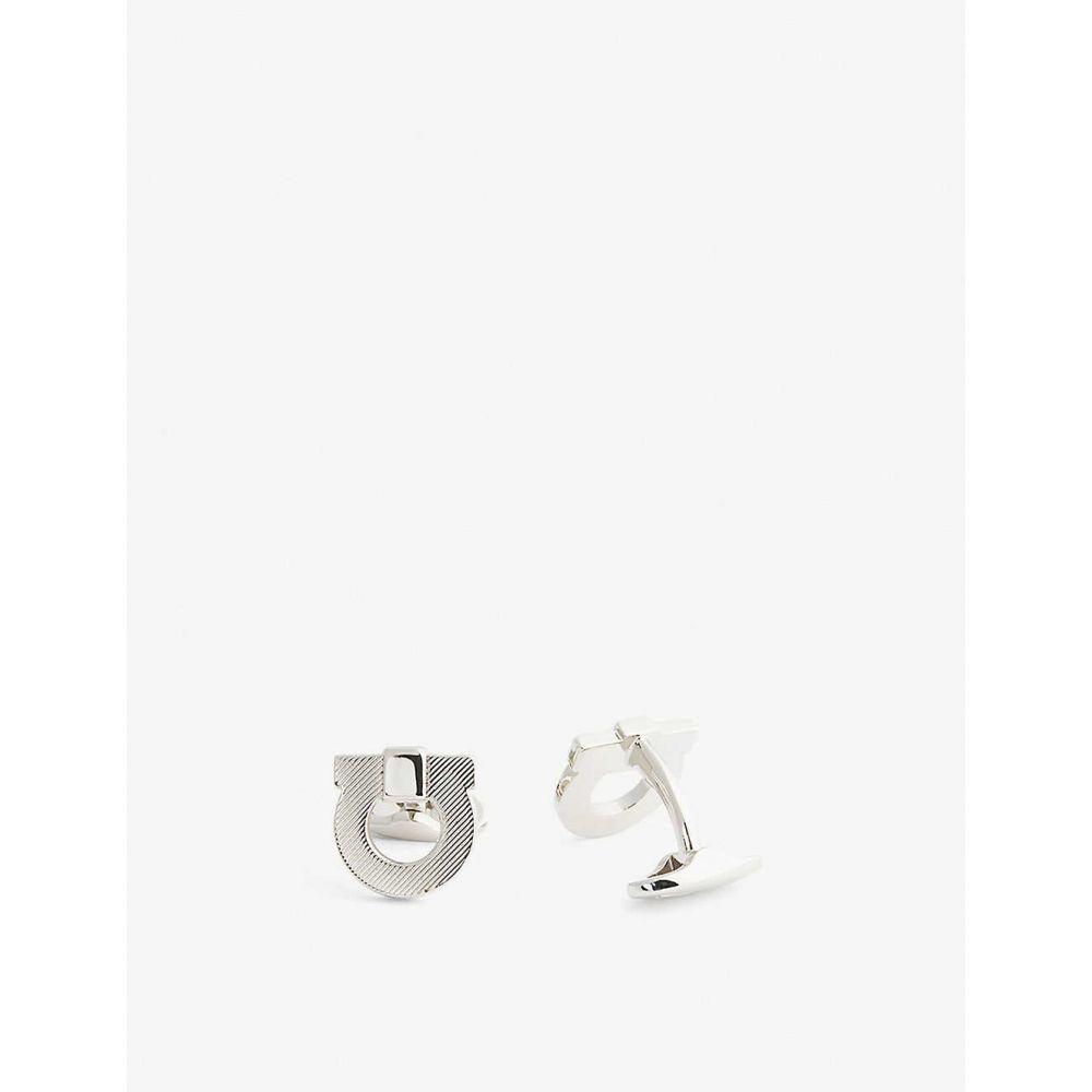 サルヴァトーレ フェラガモ SALVATORE FERRAGAMO メンズ カフス・カフリンクス 【Gancini logo cufflinks】Gold