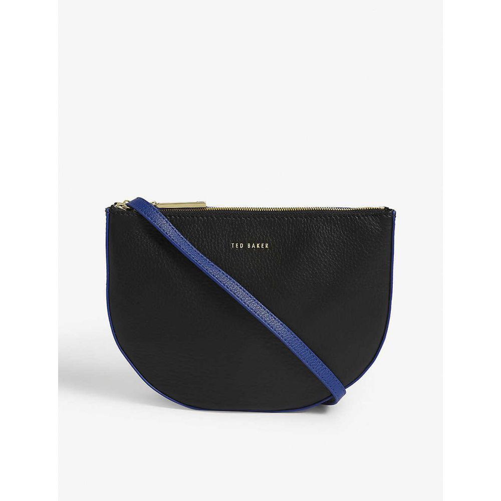 テッドベーカー TED BAKER レディース ショルダーバッグ バッグ【Gabrini double pouch leather crossbody bag】BLACK