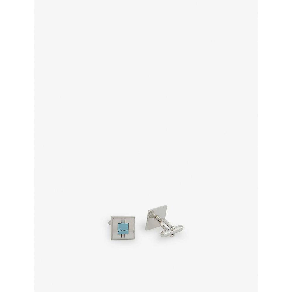 ランバン LANVIN メンズ カフス・カフリンクス 【Square plated cufflinks】BLUE